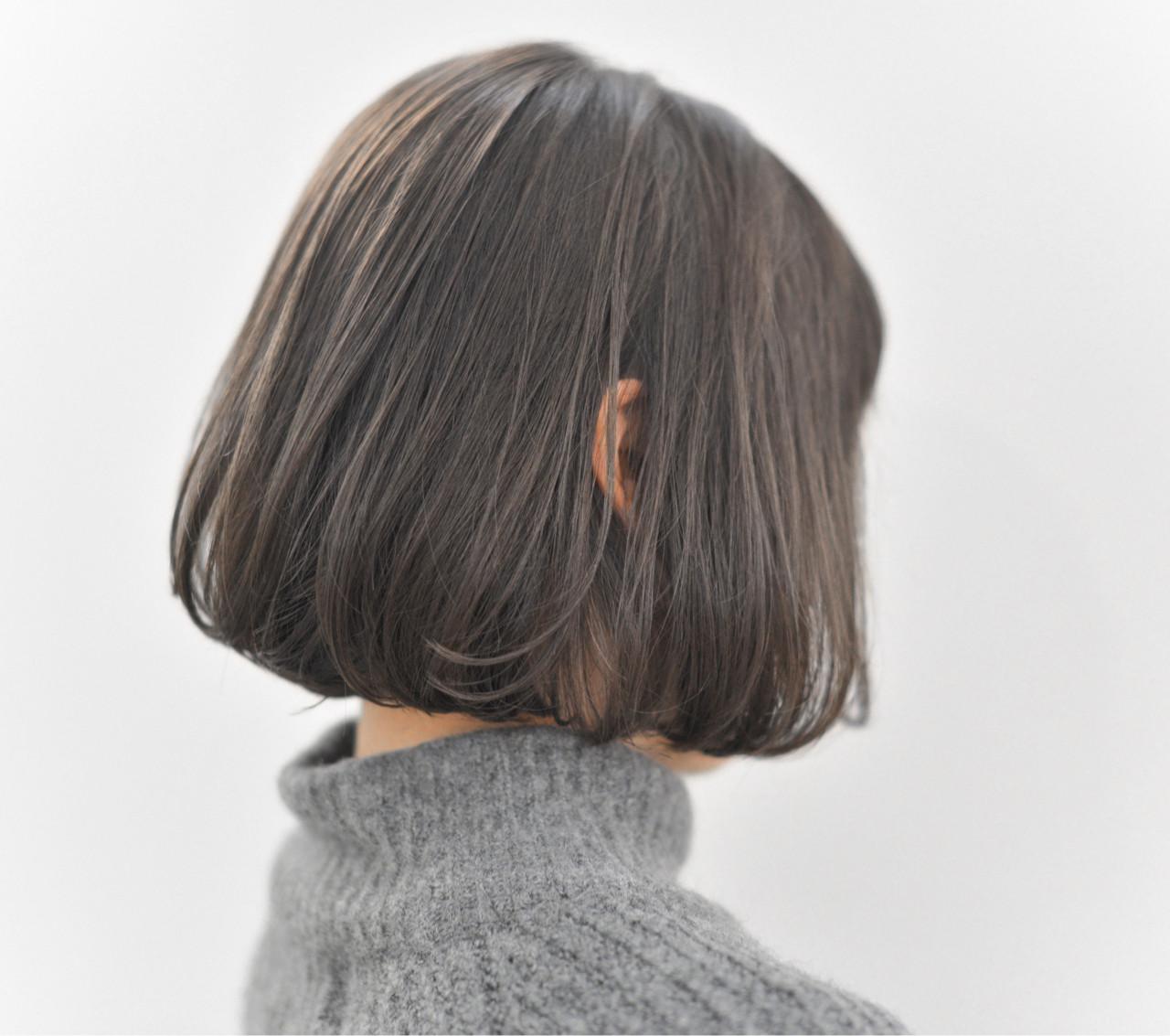 ボブ アッシュ 冬 外国人風 ヘアスタイルや髪型の写真・画像 | yuuta inoue/vicca 'ekolu / vicca 'ekolu