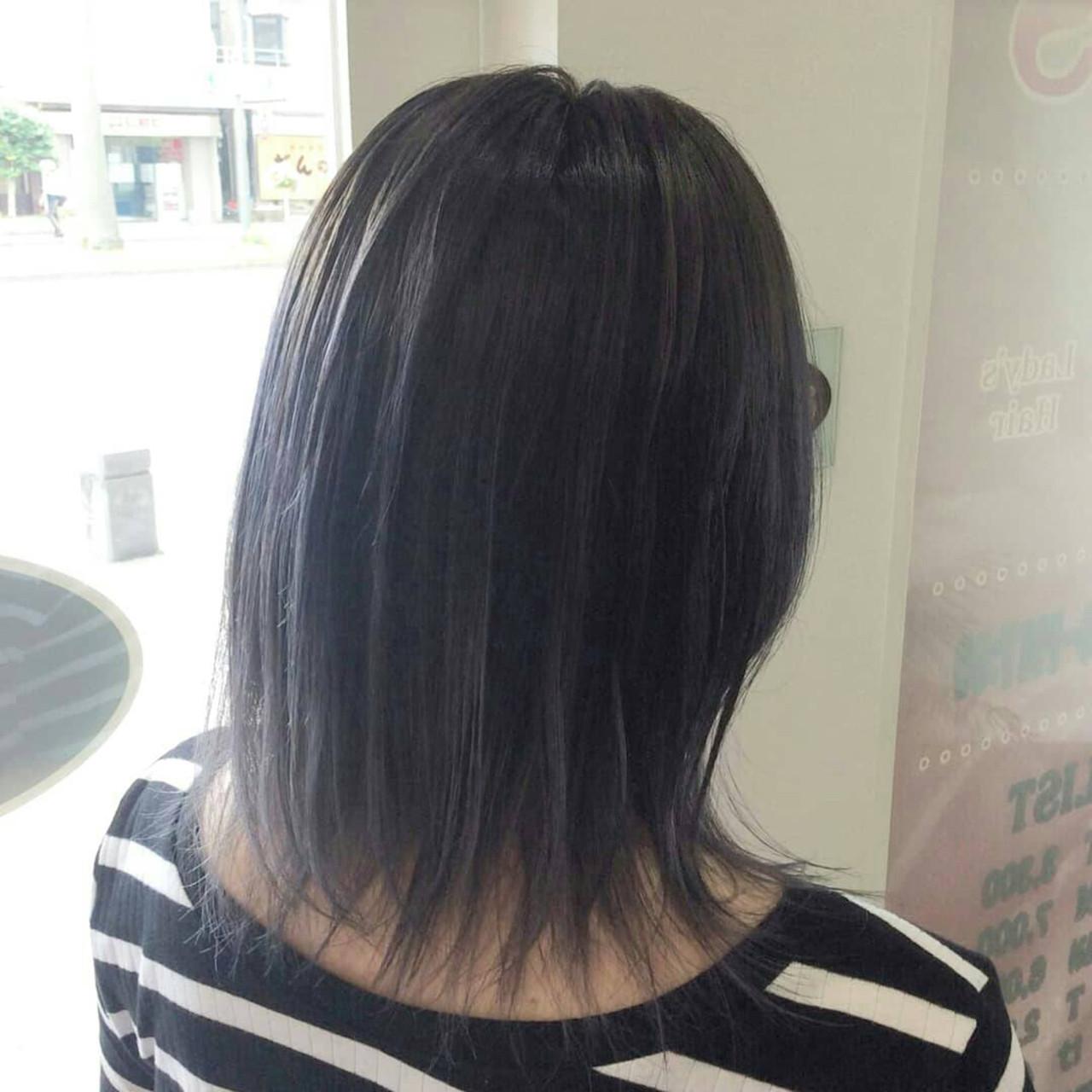 グラデーションカラー ダブルカラー ミディアム モード ヘアスタイルや髪型の写真・画像 | rumiLINKS美容室 / リンクス美容室