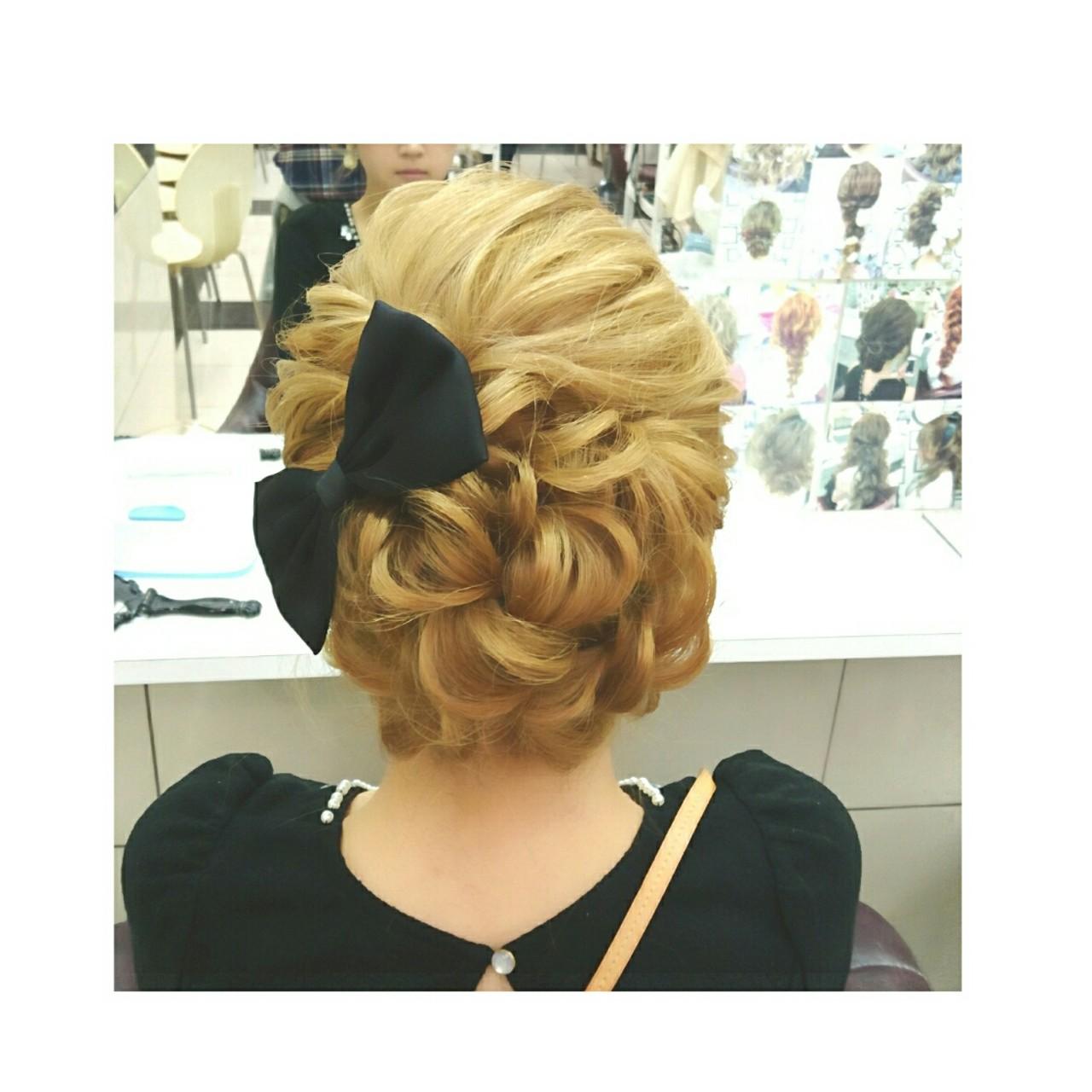 ゆるふわ セミロング 簡単ヘアアレンジ ショート ヘアスタイルや髪型の写真・画像 | chisa* / CURE