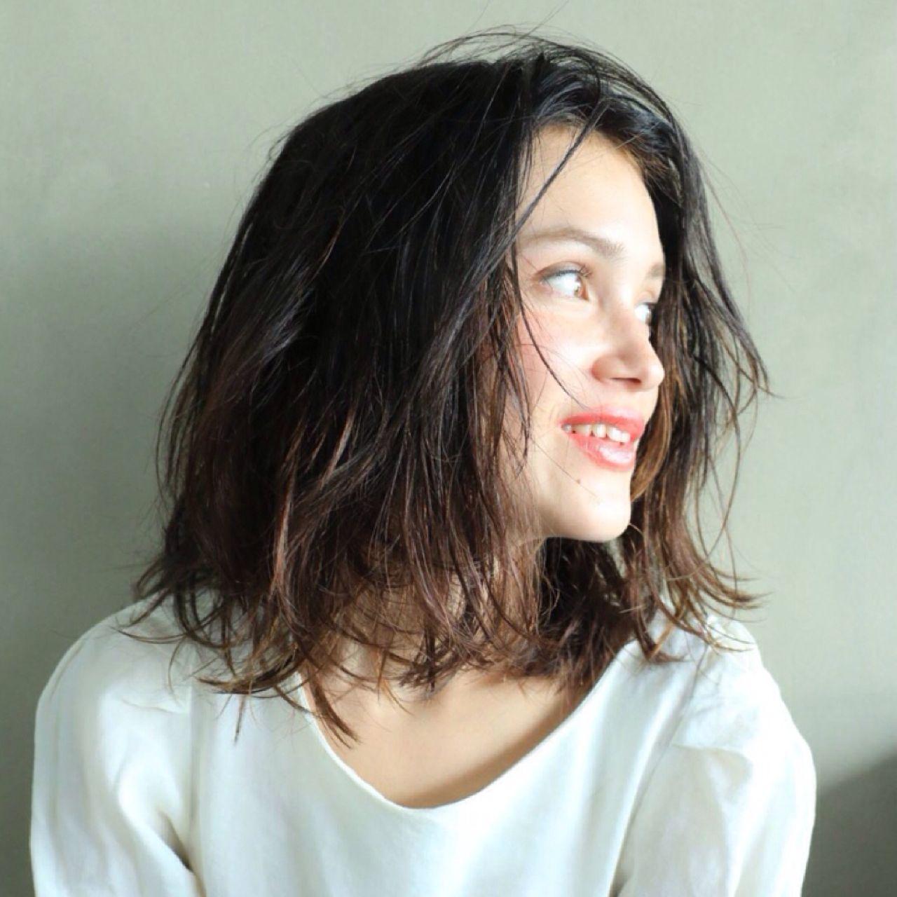 ストリート ウェーブ センターパート アンニュイ ヘアスタイルや髪型の写真・画像 | 高橋 忍 / nanuk渋谷店(ナヌーク)