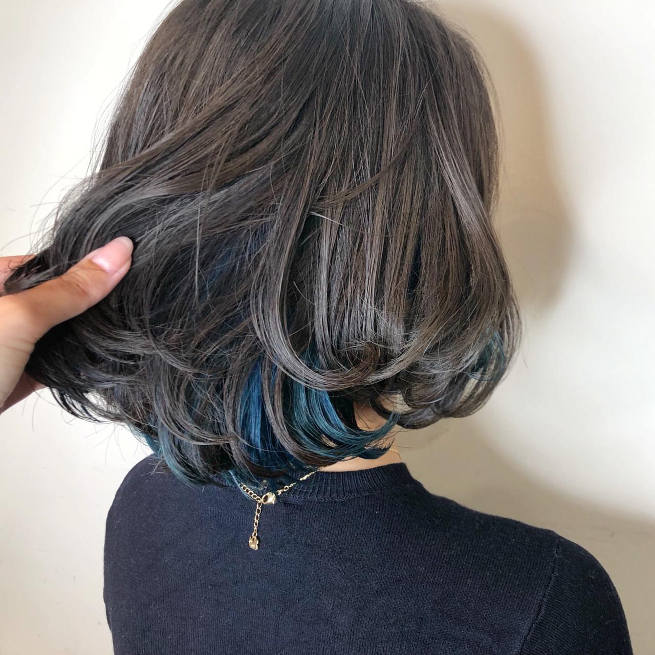 インナーカラー 愛され ゆるふわ ガーリー ヘアスタイルや髪型の写真・画像 | 徳永 実沙 / NYNY 河原町三条店