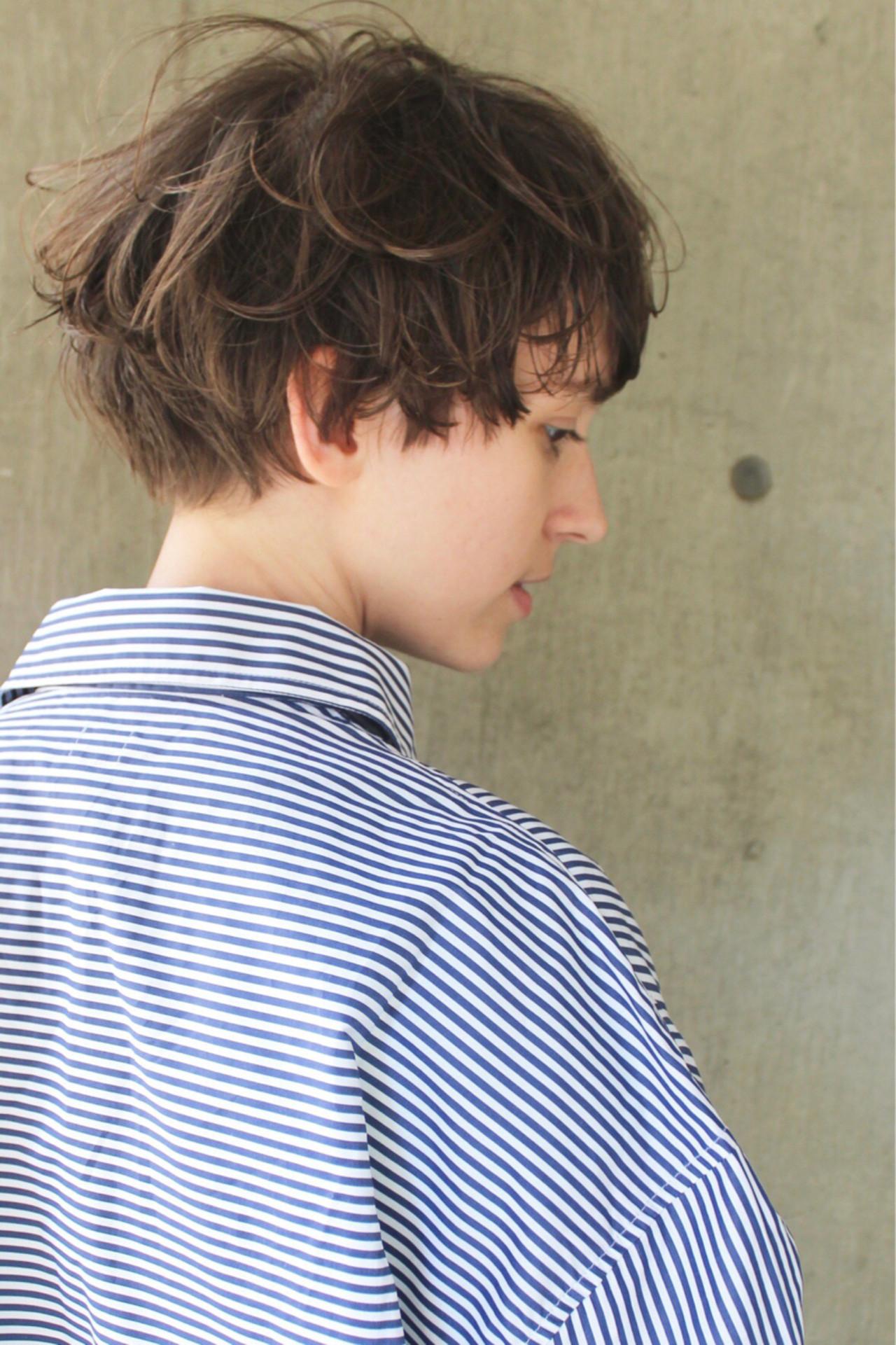 ウェーブ ハイライト アンニュイ モードヘアスタイルや髪型の写真・画像