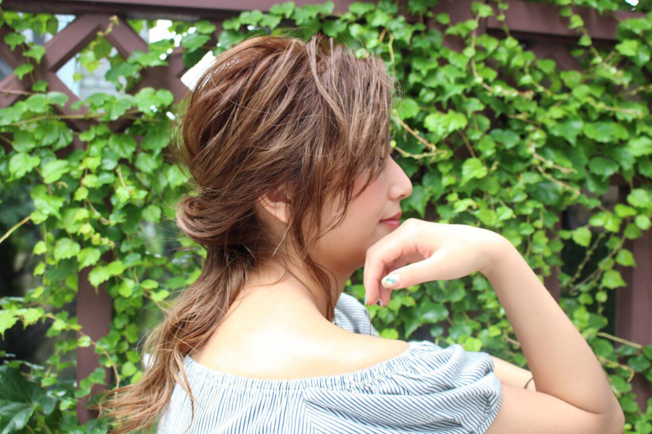 アッシュ ヘアアレンジ 簡単ヘアアレンジ ミルクティー ヘアスタイルや髪型の写真・画像 | 廣瀬祐太 / Alma