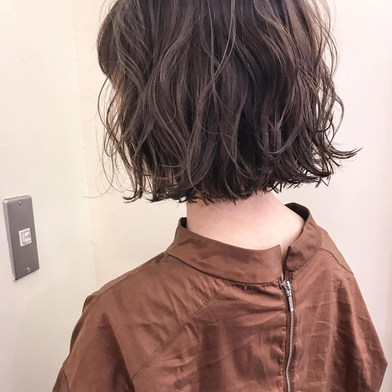 秋 ボブ ウェーブ 女子会 ヘアスタイルや髪型の写真・画像 | yumiko/sapporoSKNOW / SKNOW