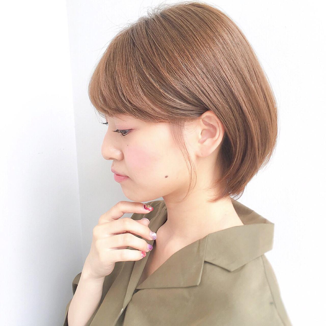 成人式 抜け感 ショート デート ヘアスタイルや髪型の写真・画像 | ショートボブの匠【 山内大成 】『i.hair』 / 『 i. 』 omotesando