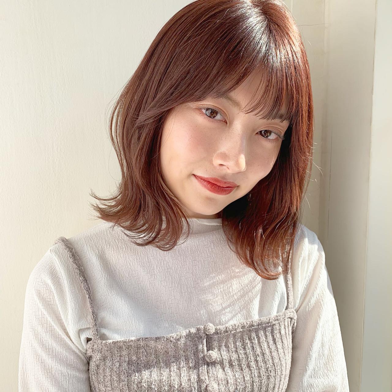 ベリーピンク ボブ インナーカラー ゆるふわ ヘアスタイルや髪型の写真・画像 | 伊藤愛子 GARDEN / GARDEN  omotesando