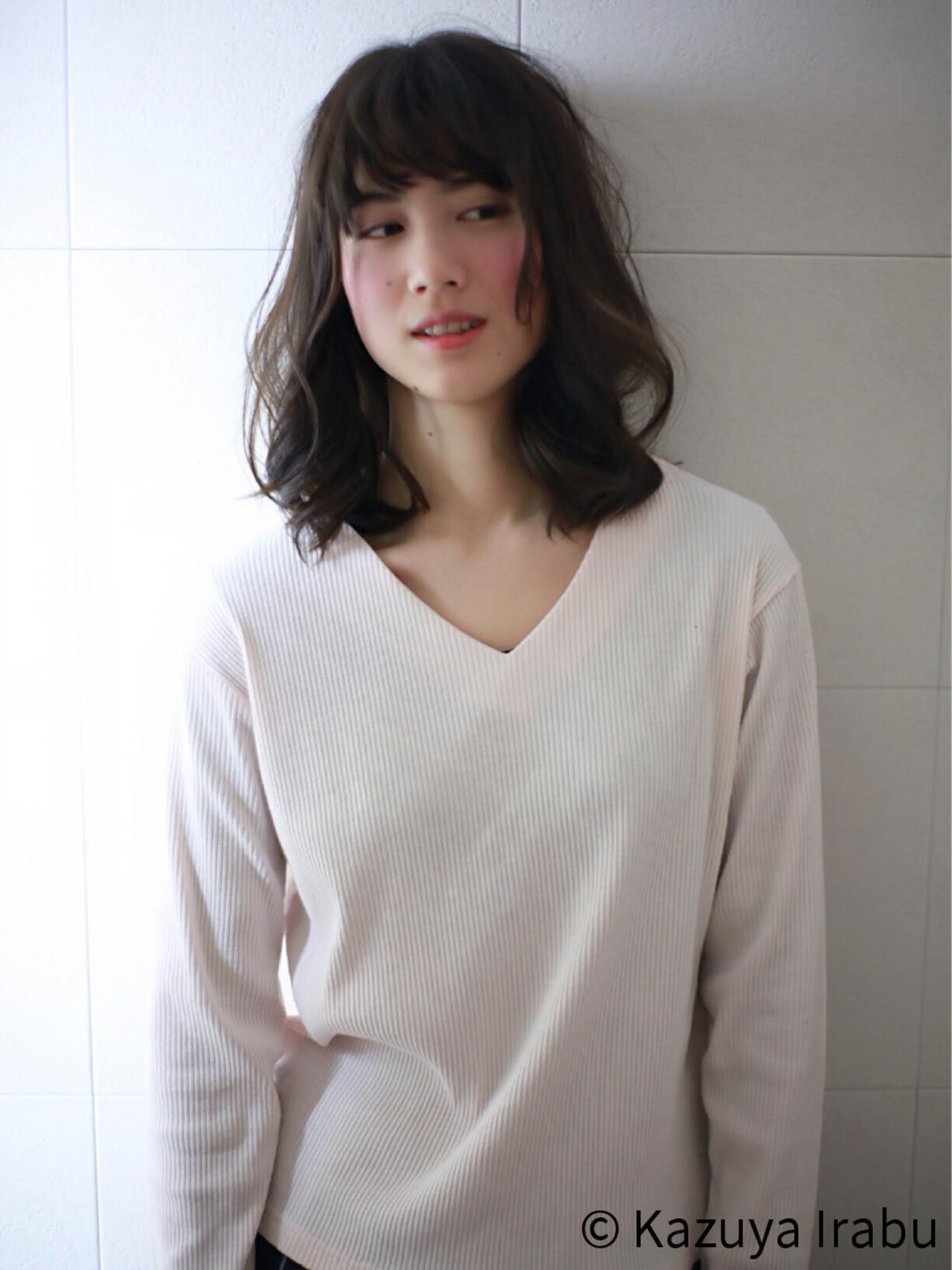 ガーリー パーマ ゆるふわ フェミニン ヘアスタイルや髪型の写真・画像   Kazuya Irabu / アービング