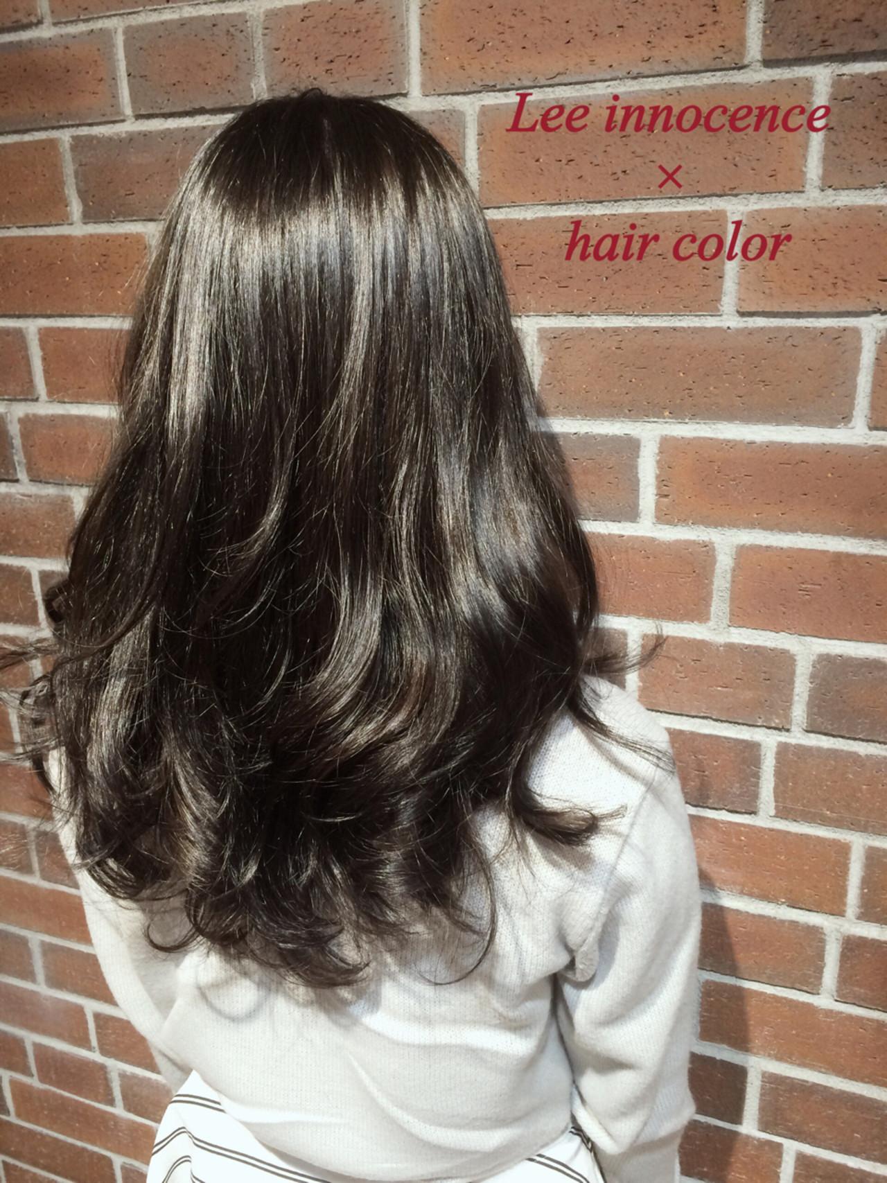 黒髪 グラデーションカラー アッシュ 外国人風 ヘアスタイルや髪型の写真・画像 | Lee innocence 宮本伸一(shin) / Lee innocence 西宮北口店