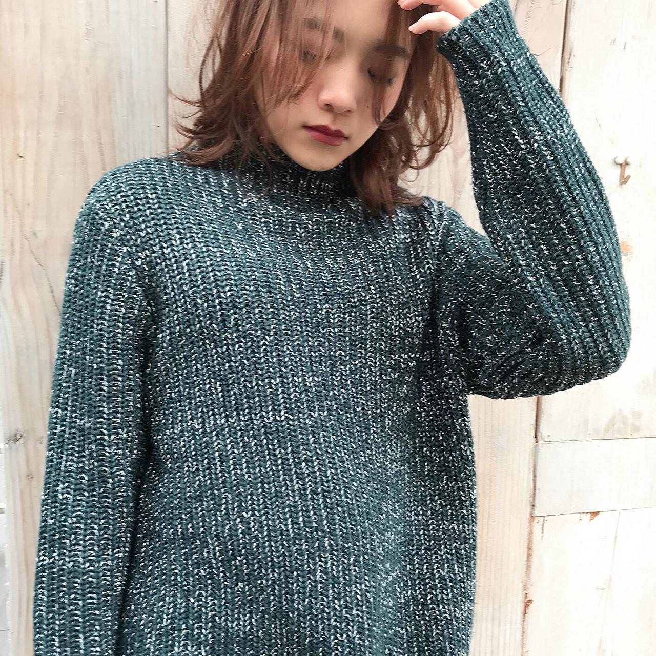 大人女子 ミディアム ニュアンス ゆるふわ ヘアスタイルや髪型の写真・画像 | Daichi shimazu / hairsalon M 大宮