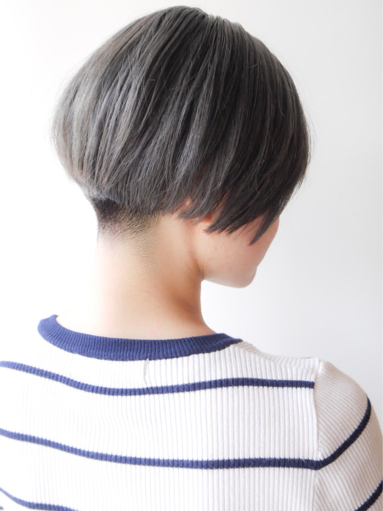 モード ショート 刈り上げ 大人かわいい ヘアスタイルや髪型の写真・画像 | HIROKI / roijir / roijir