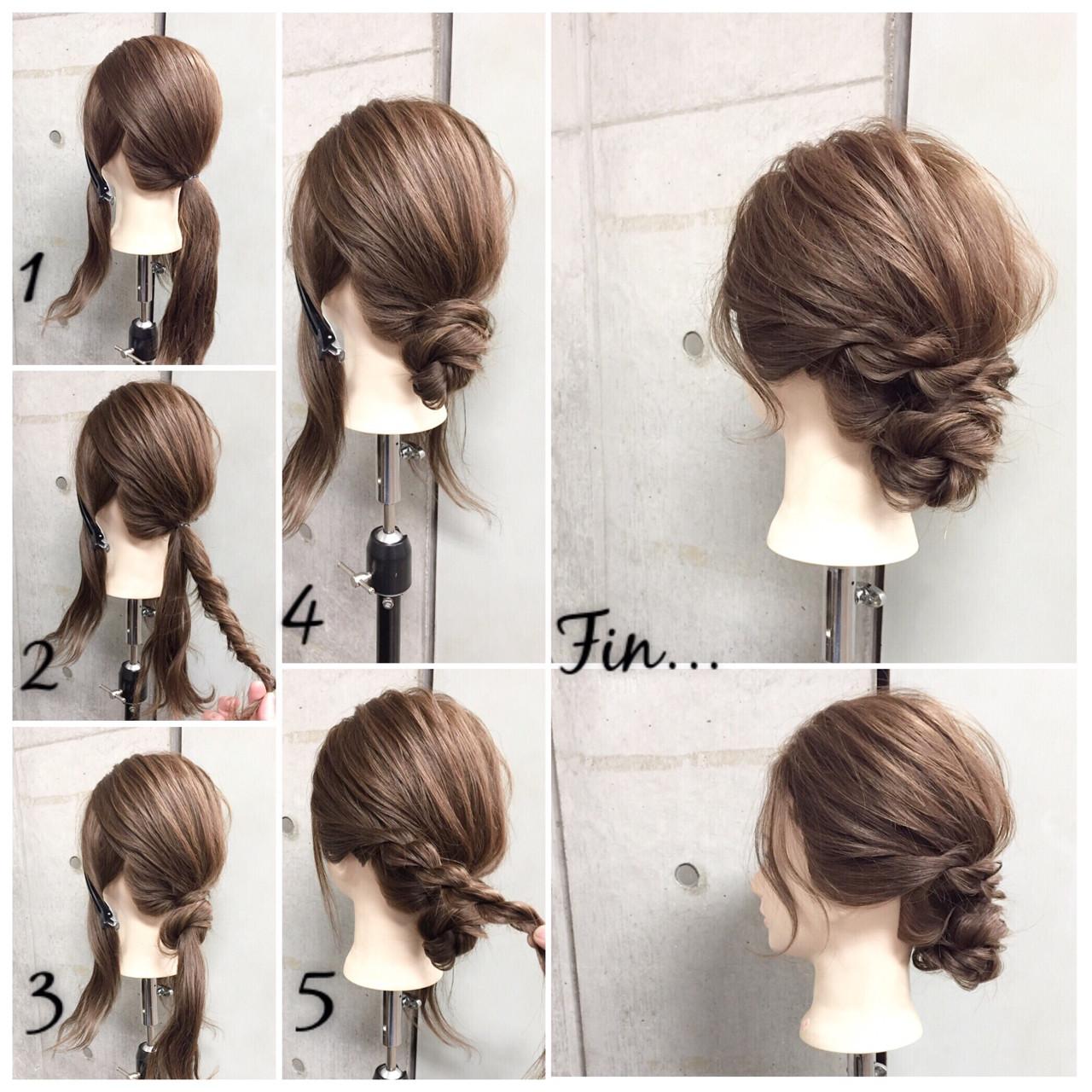 ショート 簡単ヘアアレンジ セミロング ラフ ヘアスタイルや髪型の写真・画像 | 東海林翔太 LinobyU-REALM / Lino by U-REALM