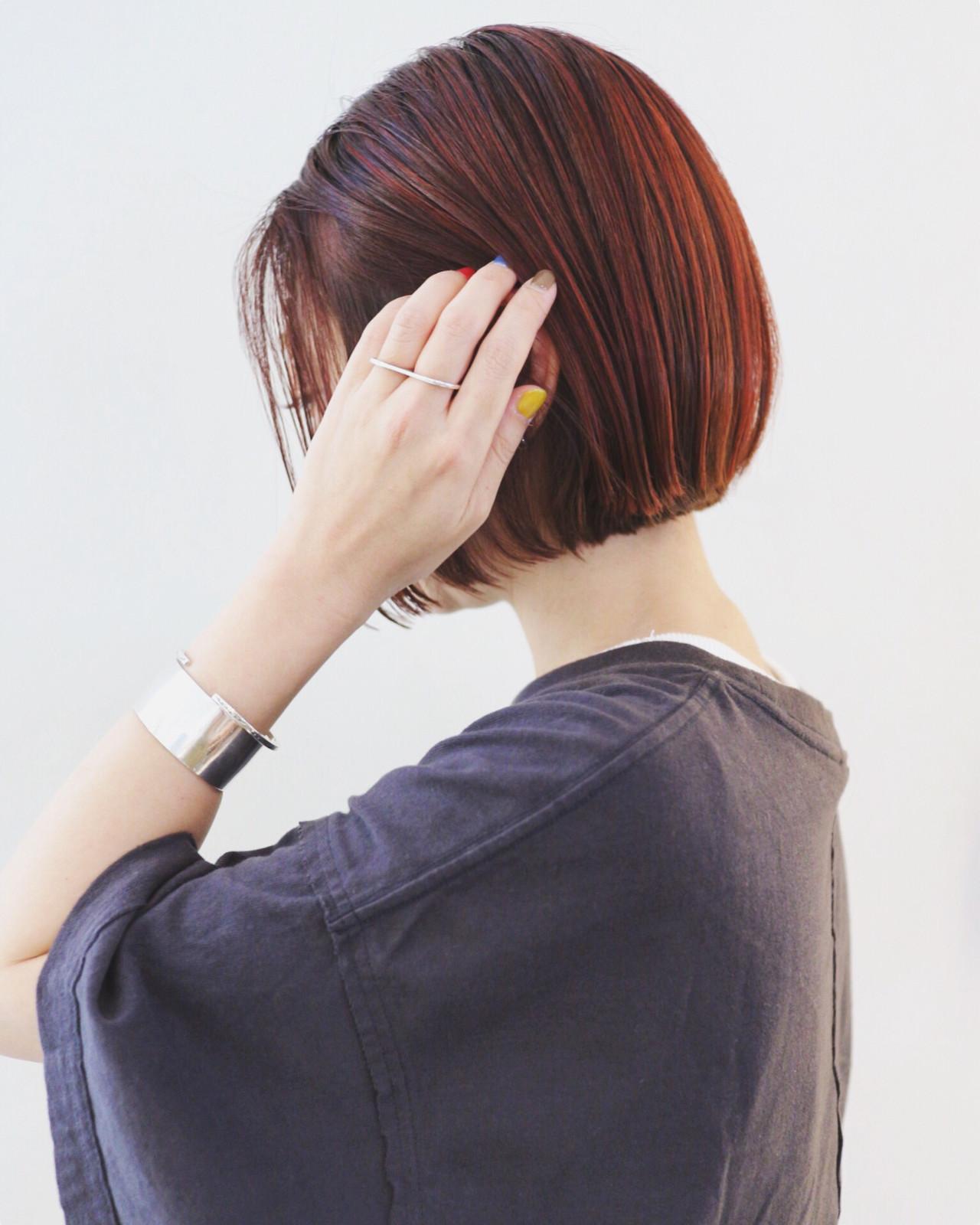 切りっぱなしボブ ボブ ミニボブ ストリート ヘアスタイルや髪型の写真・画像 | 三好 佳奈美 / Baco.(バコ)