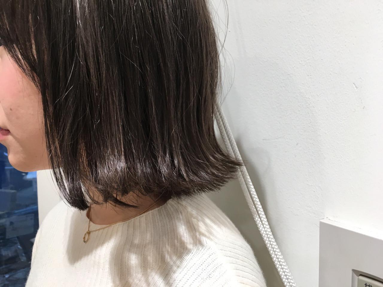 外ハネ 外国人風カラー 外国人風 ボブ ヘアスタイルや髪型の写真・画像 | 市岡 久 / BLANCOtres