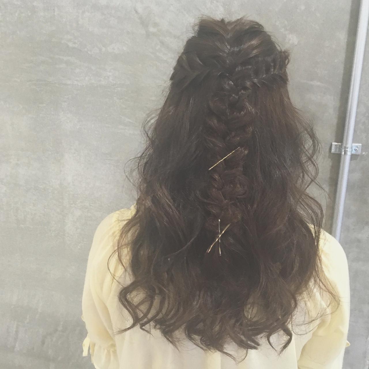 ヘアアレンジ 外国人風 ロング ゆるふわ ヘアスタイルや髪型の写真・画像 | Ayaco / One day