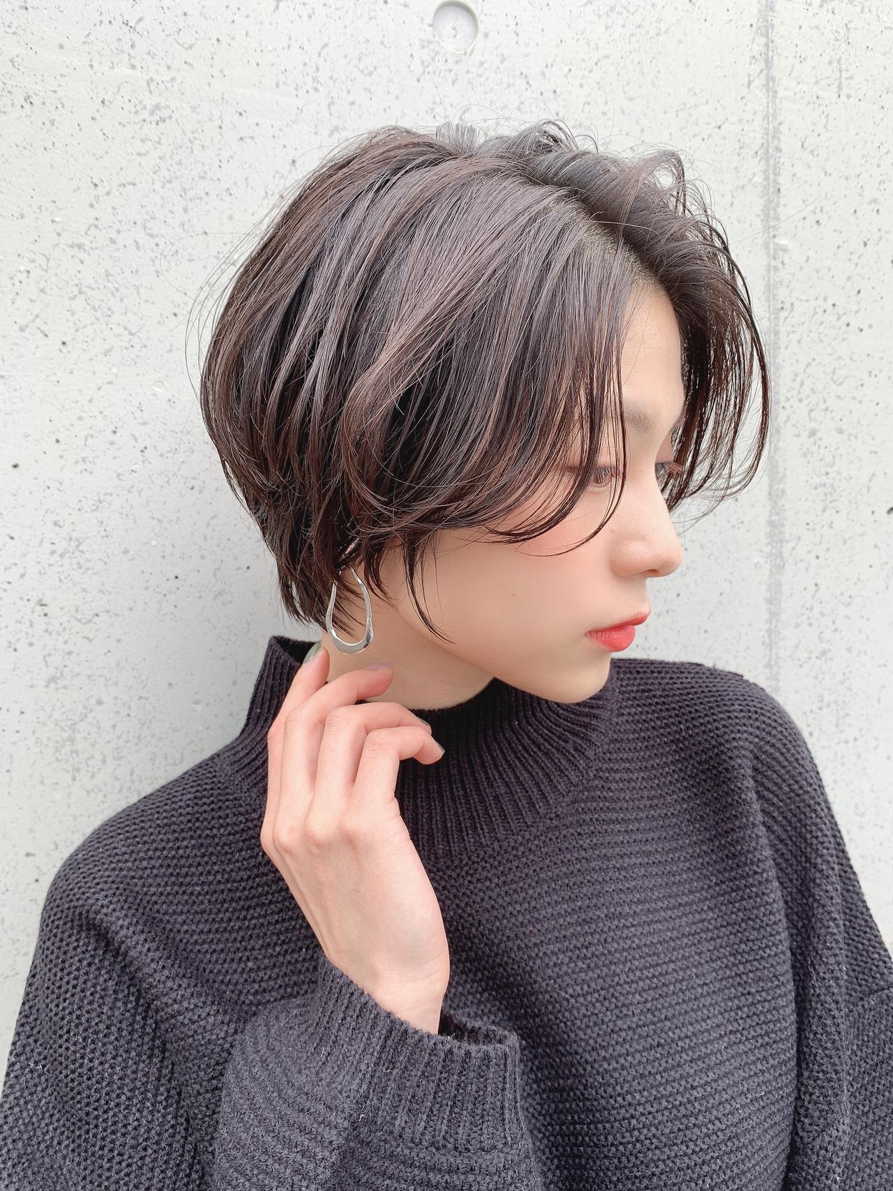 小顔ヘア ショートヘア 大人可愛い ショート ヘアスタイルや髪型の写真・画像 | 山口 健太 / Lond ange