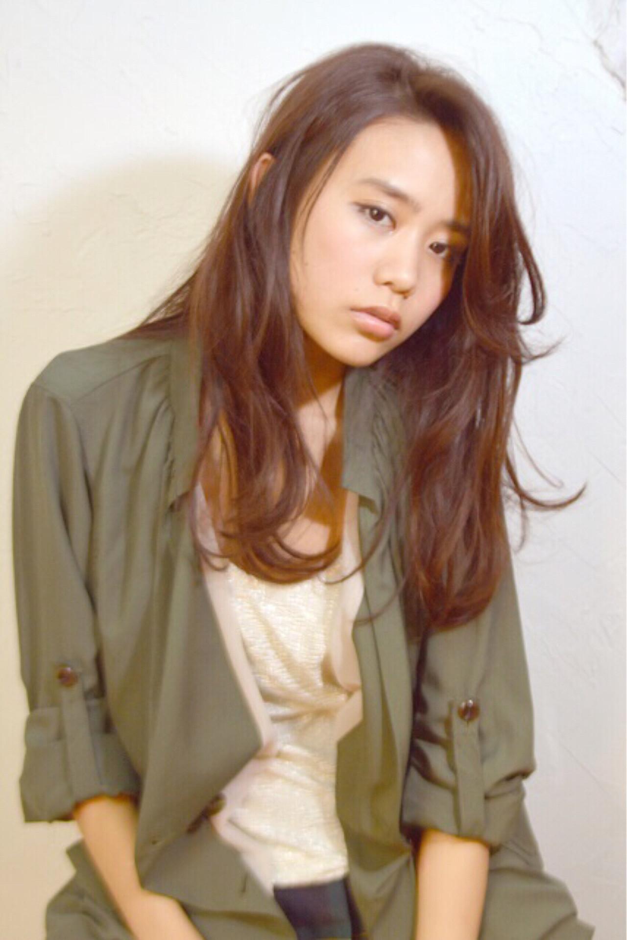 ロング 暗髪 黒髪 ナチュラル ヘアスタイルや髪型の写真・画像   Nao Kokubun blast / blast