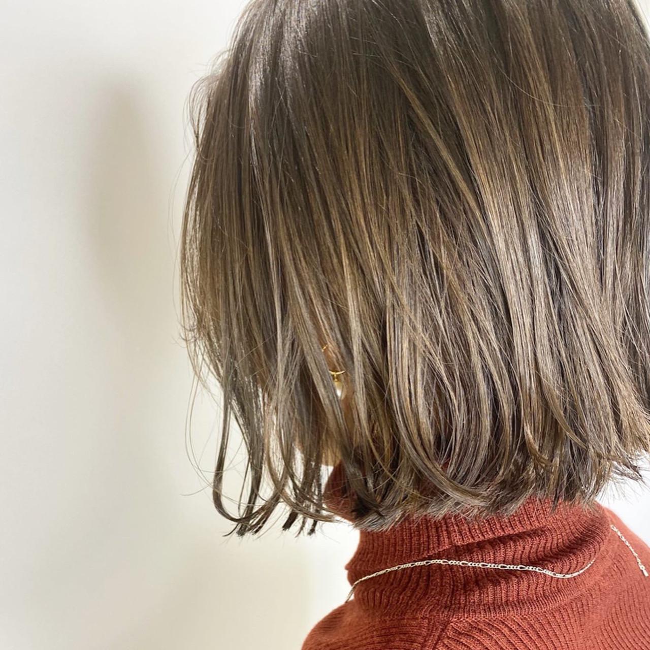 グレージュ ボブ ナチュラル アッシュベージュ ヘアスタイルや髪型の写真・画像 | 石渡諒太 / Alan Smithee