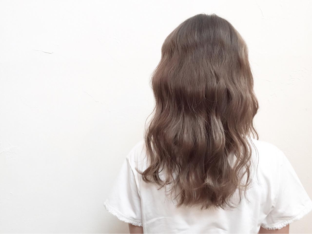 セミロング アッシュ ナチュラル 外国人風 ヘアスタイルや髪型の写真・画像   坂本圭太朗 / bado