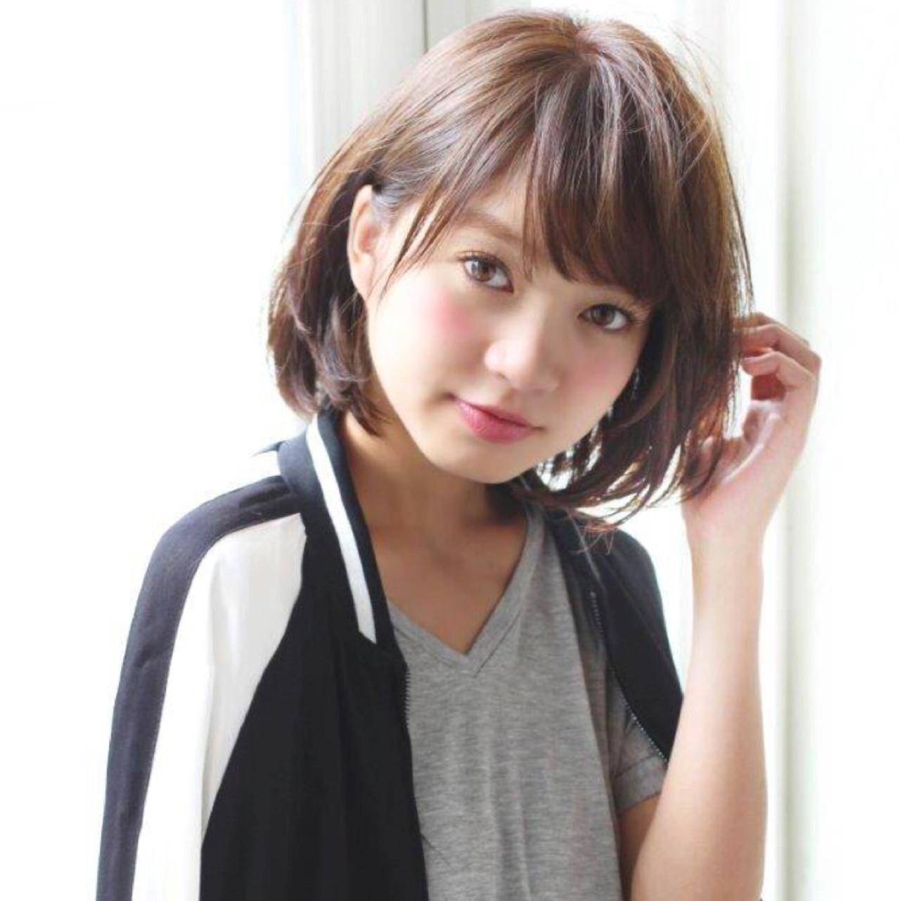 こなれ感 小顔 ボブ パーマ ヘアスタイルや髪型の写真・画像 | 切りっぱなしボブを流行らせた人 Un ami増永 / Un ami omotesando
