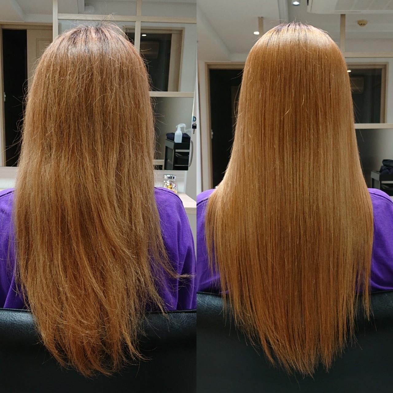 髪質改善 ナチュラル 髪質改善トリートメント ロングヘアスタイルや髪型の写真・画像