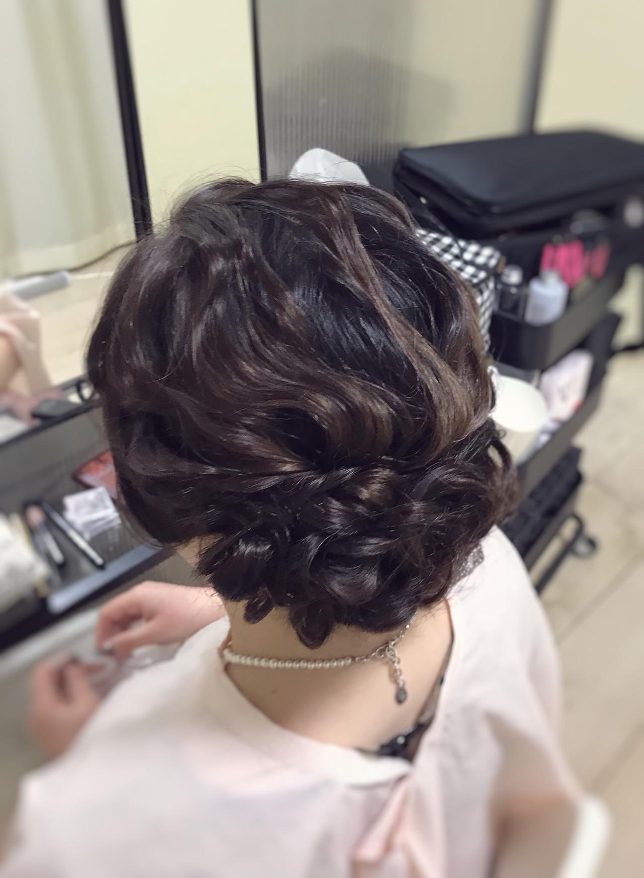 パーティヘア ロング 結婚式 ヘアアレンジヘアスタイルや髪型の写真・画像