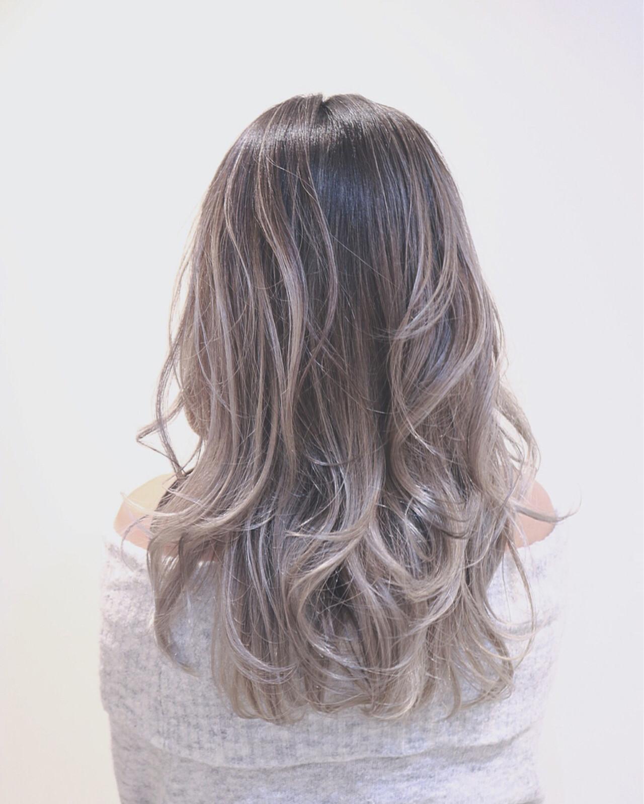 ハイライト グラデーションカラー ホワイト ストリート ヘアスタイルや髪型の写真・画像   RUMINA //高田ゆみこ / Rumina