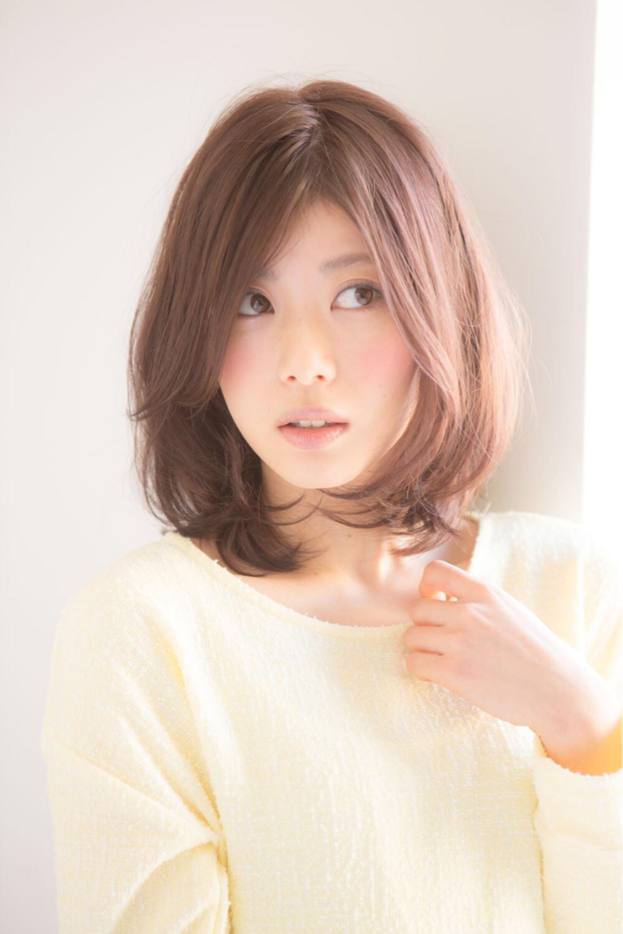 色気 ナチュラル ヘアアレンジ ミディアム ヘアスタイルや髪型の写真・画像 | 松下哲士 / GARDEN aoyama