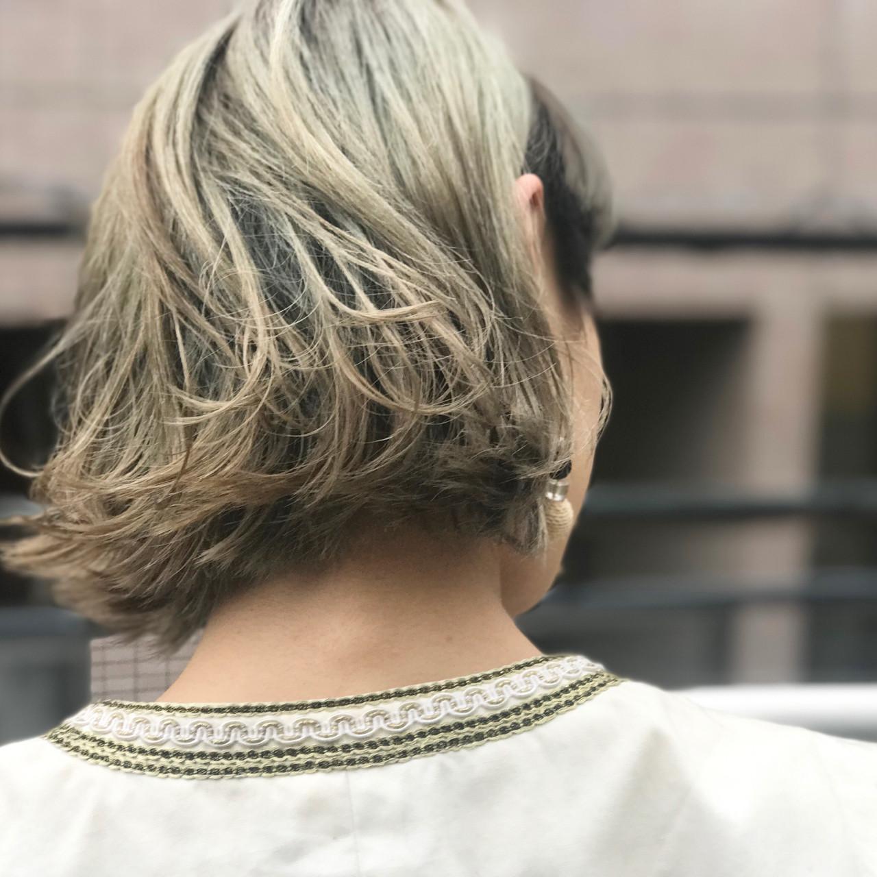 ハイライト モード ニュアンス 色気 ヘアスタイルや髪型の写真・画像 | bibito crew / bibito