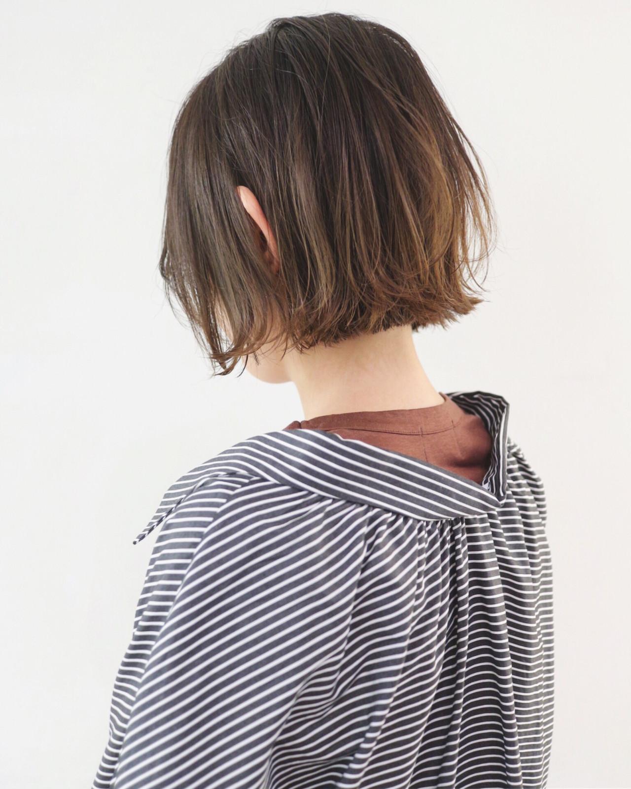 ストリート アッシュグレージュ ショート グラデーションカラー ヘアスタイルや髪型の写真・画像 | 三好 佳奈美 / Baco.(バコ)