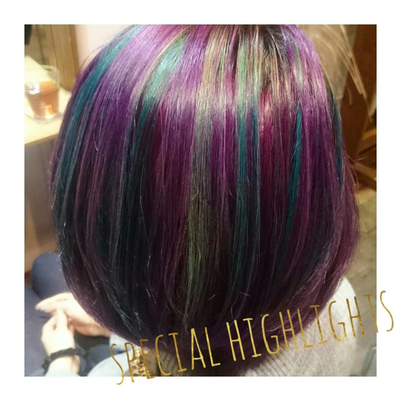 ハイライト 外国人風 ストリート カラートリートメントヘアスタイルや髪型の写真・画像