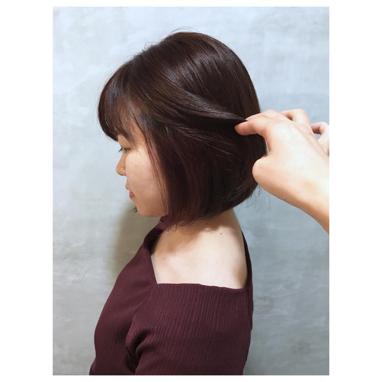ピンクパープル ピンクバイオレット ピンク インナーカラー ヘアスタイルや髪型の写真・画像 | Yumi Hiramatsu / Sourire Imaizumi【スーリール イマイズミ】