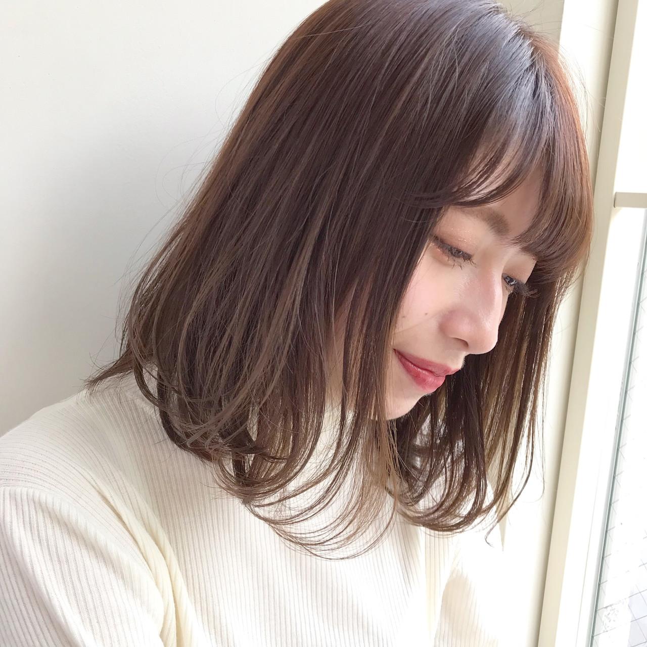 デート ベージュ ショコラブラウン ボブ ヘアスタイルや髪型の写真・画像   伊藤愛子 GARDEN / GARDEN  omotesando