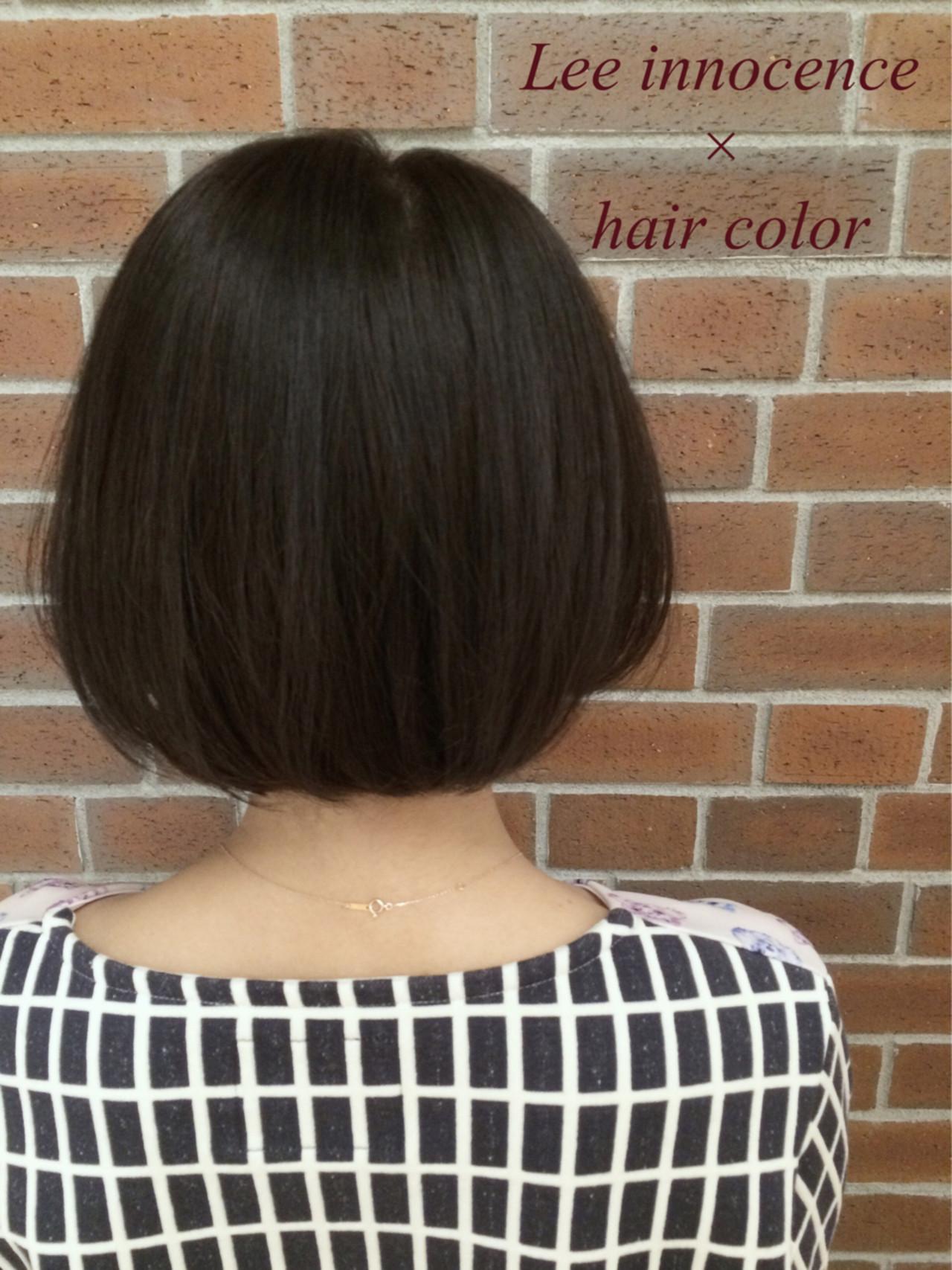 外国人風 ボブ ナチュラル 色気 ヘアスタイルや髪型の写真・画像 | Lee innocence 宮本伸一(shin) / Lee innocence 西宮北口店