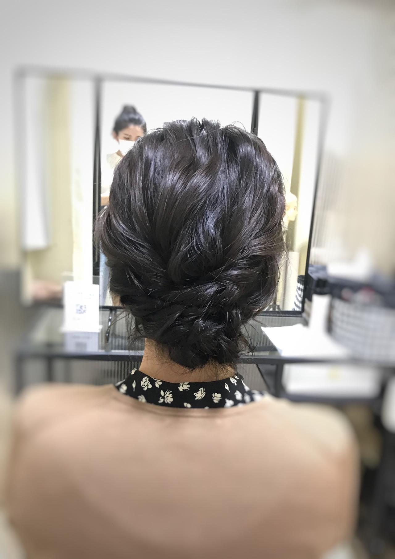 大人可愛い お呼ばれヘア ヘアアレンジ フェミニンヘアスタイルや髪型の写真・画像