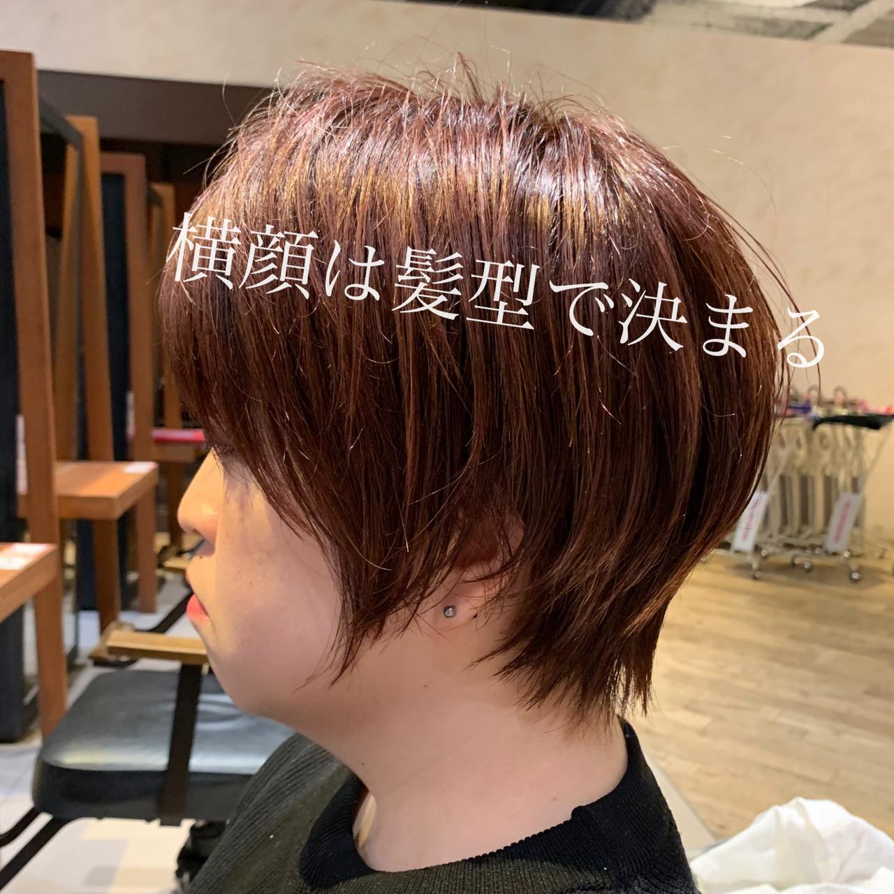 ショートボブ オフィス デート ナチュラルヘアスタイルや髪型の写真・画像