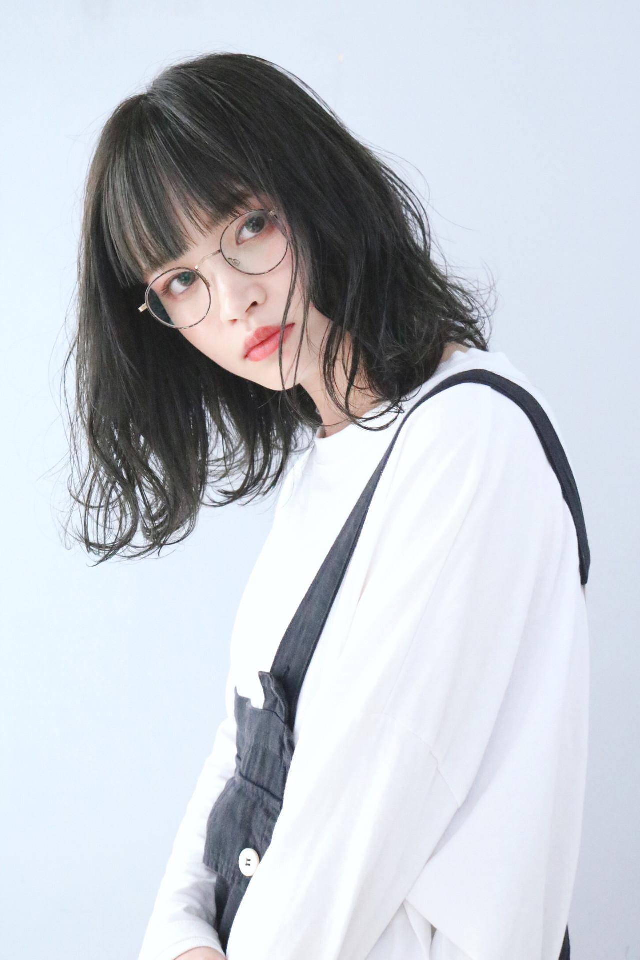 黒髮 アッシュグレージュ ナチュラル 黒髪 ヘアスタイルや髪型の写真・画像 | 上田智久 / ooit 福岡 天神 / ooit