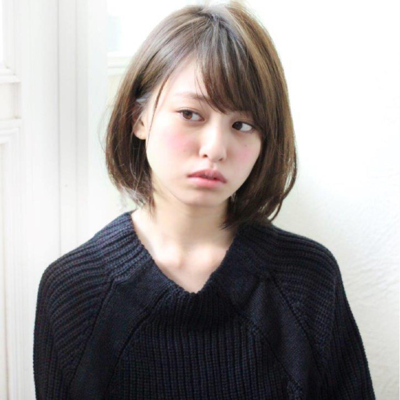 ボブ 外国人風 色気 ニュアンス ヘアスタイルや髪型の写真・画像 | 切りっぱなしボブを流行らせた人 Un ami増永 / Un ami omotesando