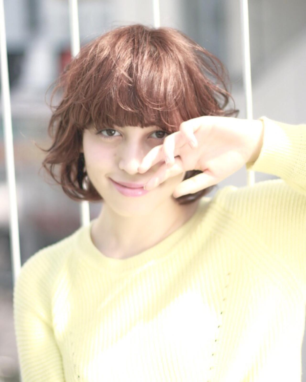 色気 パーマ ナチュラル ボブ ヘアスタイルや髪型の写真・画像   菅 孝太郎 / andrey