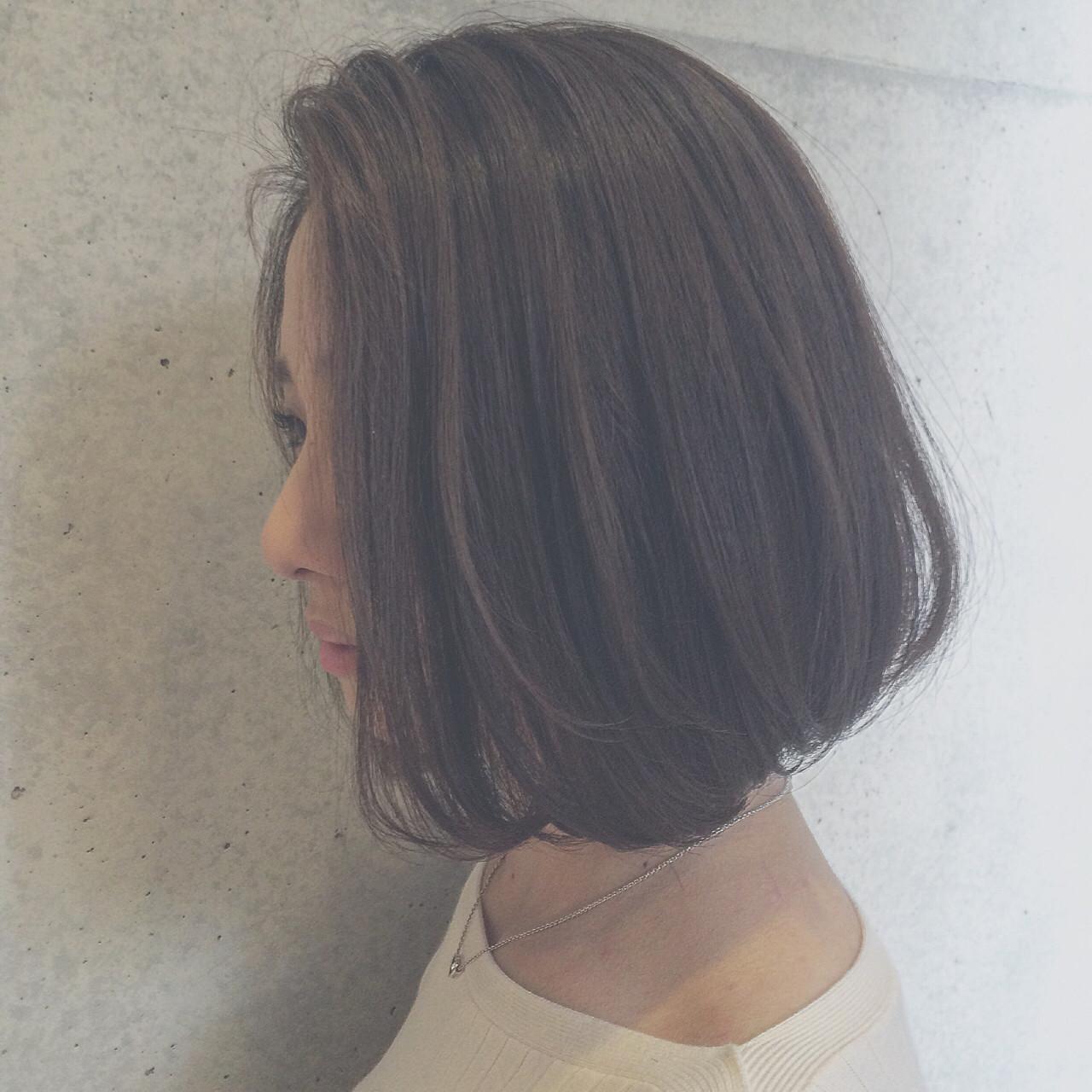 ナチュラル ミディアム ボブ 大人かわいい ヘアスタイルや髪型の写真・画像 | Tierra / 町田雄一 / Tierra harajuku