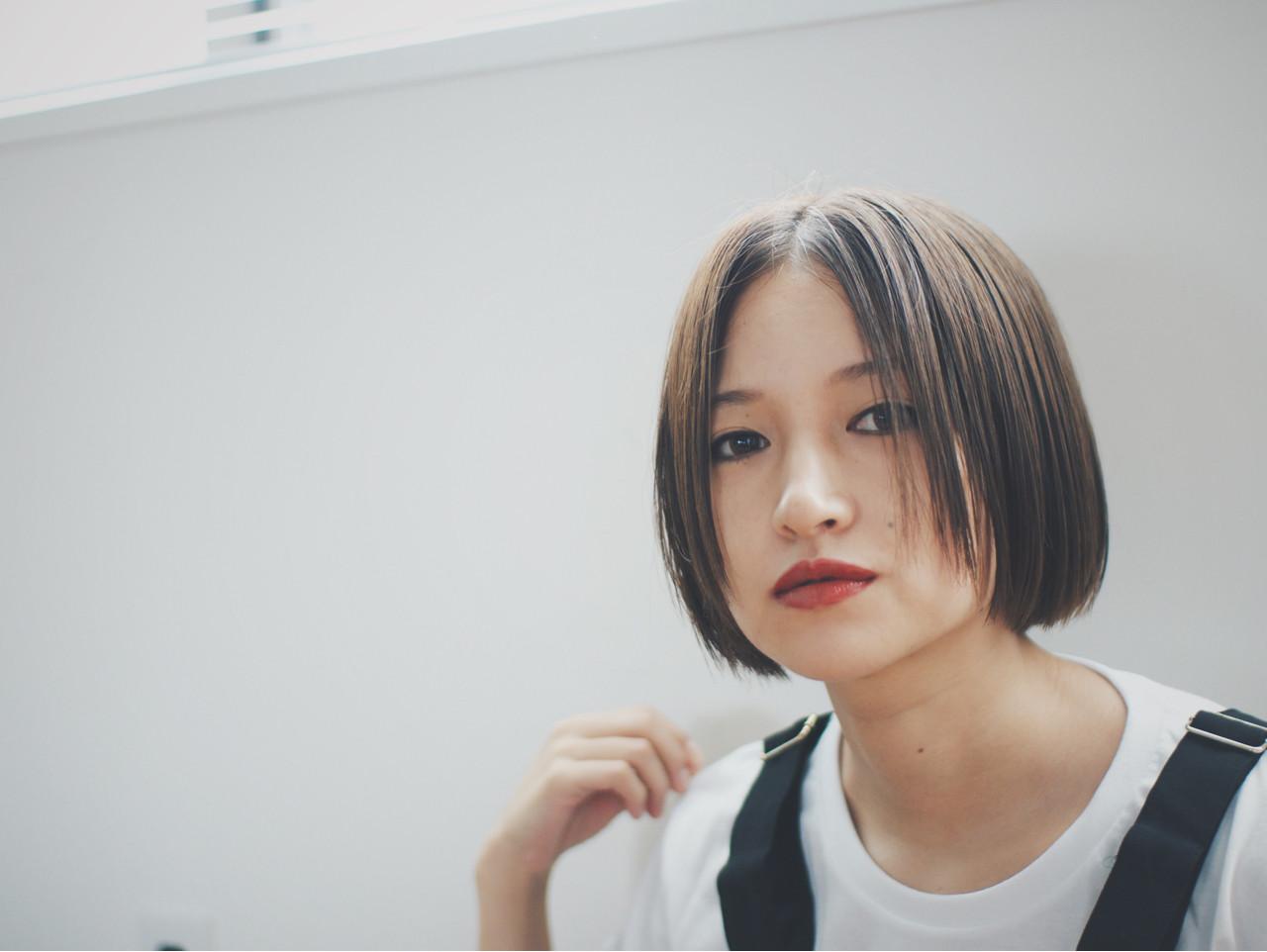 外国人風 ナチュラル ボブ 色気 ヘアスタイルや髪型の写真・画像 | 金子大企 / HOMIE TOKYO
