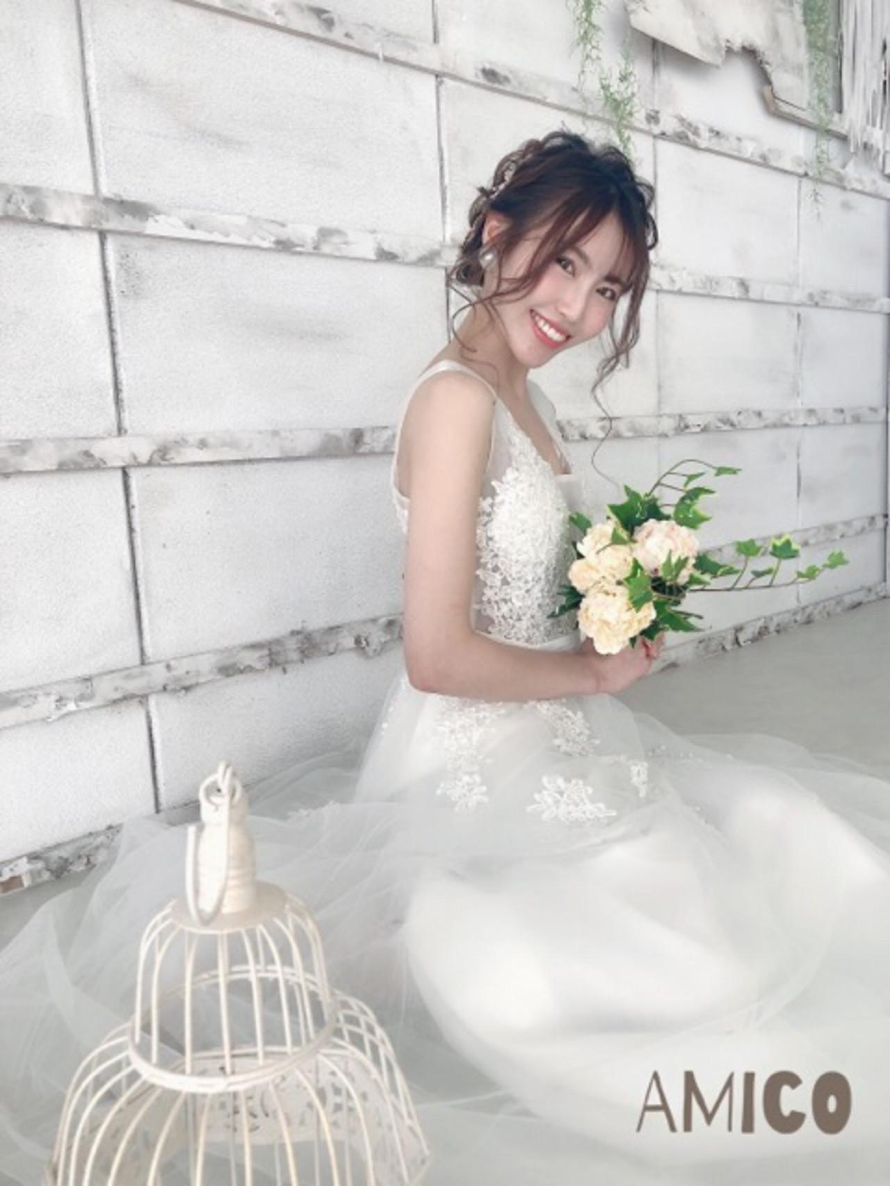 デート ロング ナチュラル 結婚式 ヘアスタイルや髪型の写真・画像