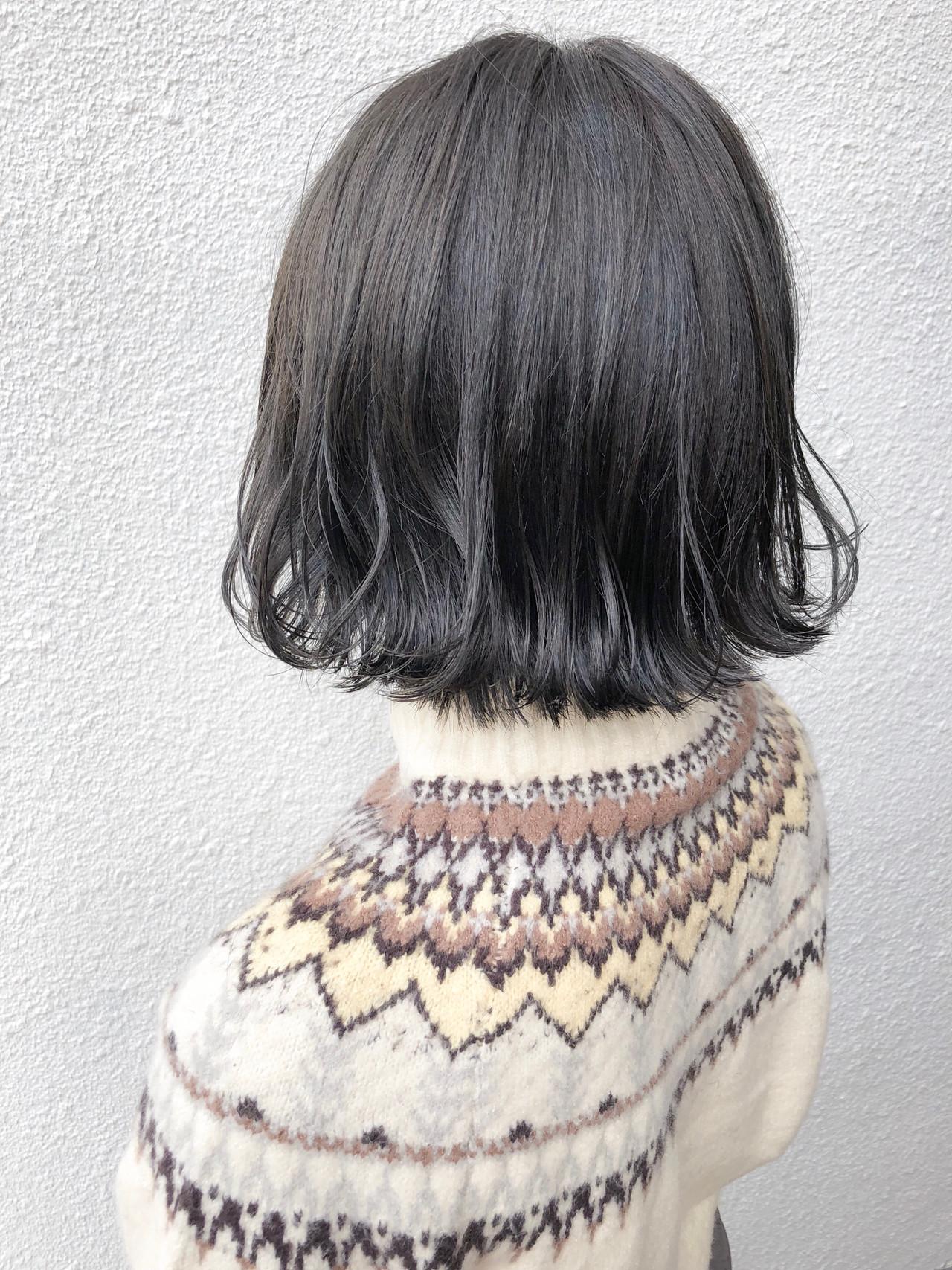ミニボブ ナチュラル ショートボブ 外ハネボブ ヘアスタイルや髪型の写真・画像 | 篠田 雅樹 / Ame briller 【アムブリエ】