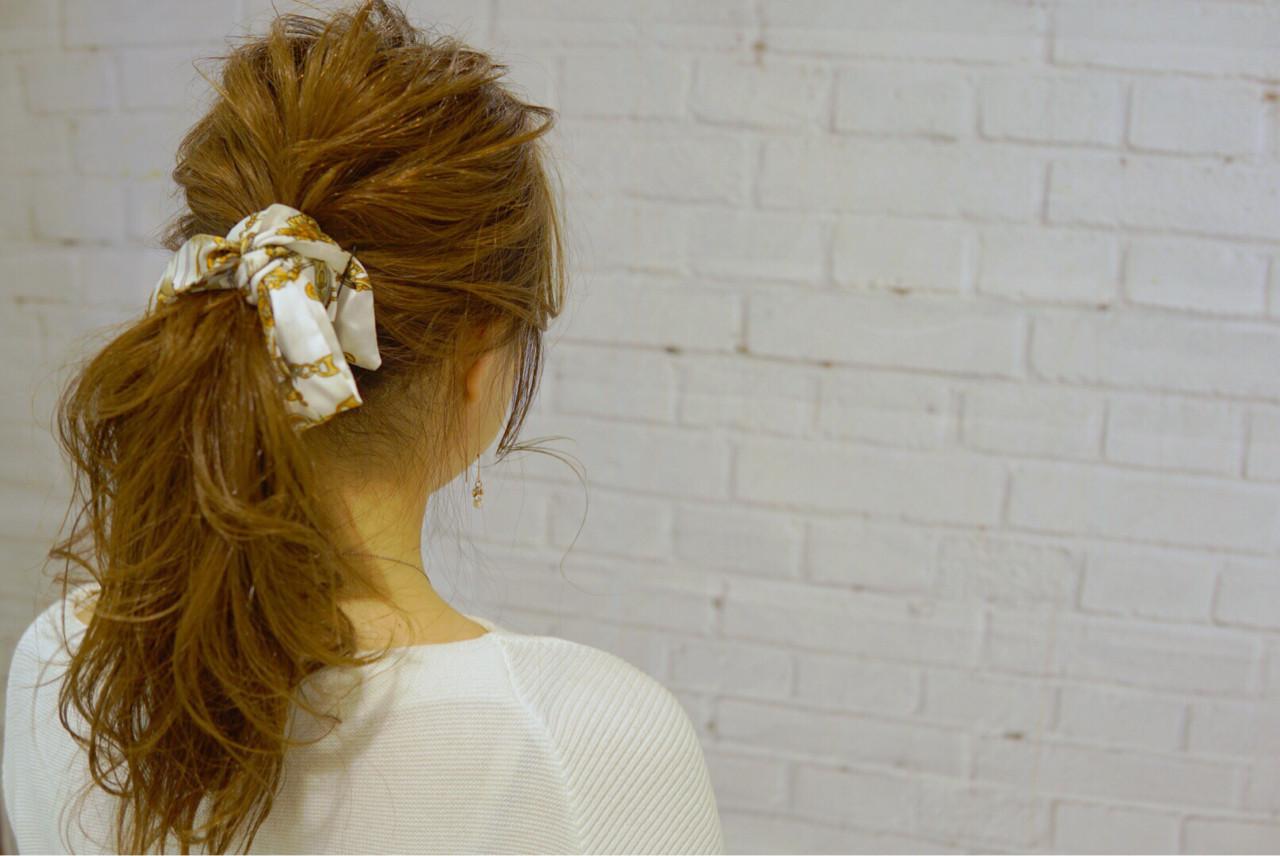 ショート ポニーテール ヘアアクセ ヘアアレンジ ヘアスタイルや髪型の写真・画像 | 山口 卓哉/earth北浦和店 / Hair&Make EARTH北浦和店