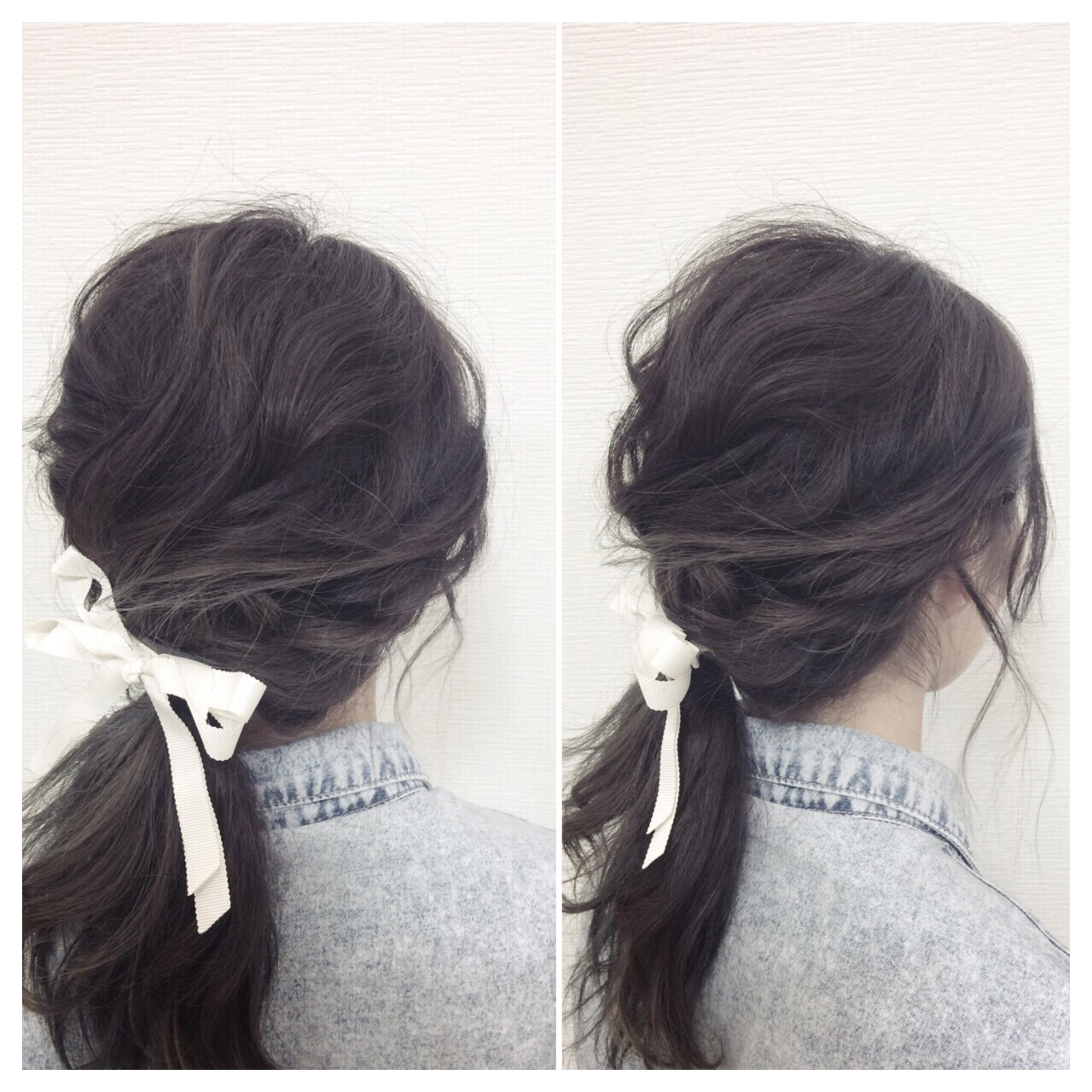 ショート ゆるふわ ヘアアレンジ ミディアム ヘアスタイルや髪型の写真・画像 | 前田 善夫/Crede hair's / Crede hair's 相田