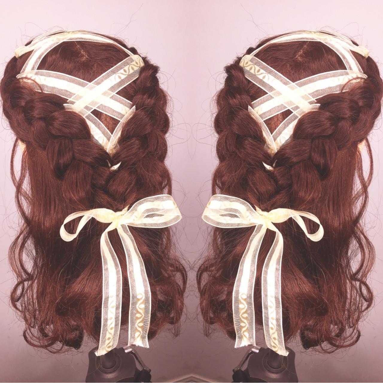 ショート セミロング 簡単ヘアアレンジ ヘアアレンジヘアスタイルや髪型の写真・画像