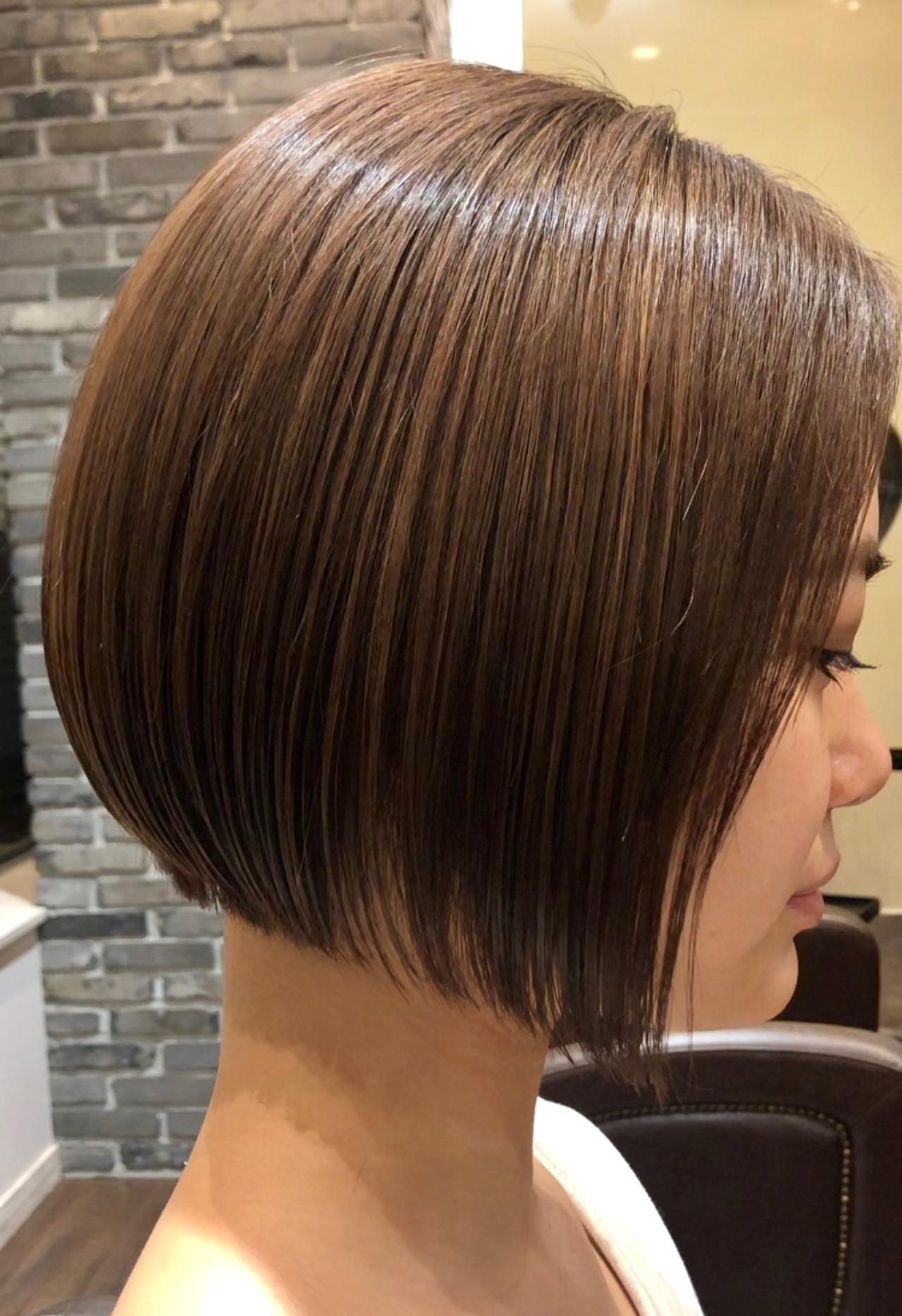 前下がりボブ グラデーションボブ ショートボブ ミニボブ ヘアスタイルや髪型の写真・画像 | hayase (ヨシモトハヤセ) / Nove Lina