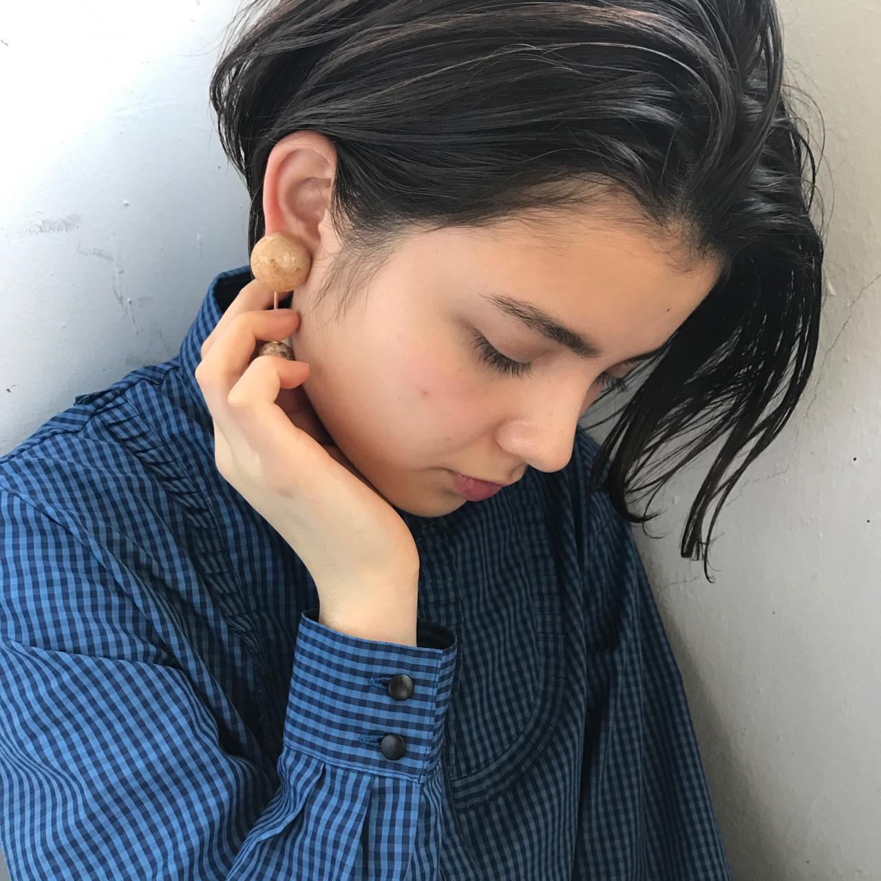 黒髪 アッシュ 透明感 ナチュラル ヘアスタイルや髪型の写真・画像 | 小西敬二郎 / Heartim