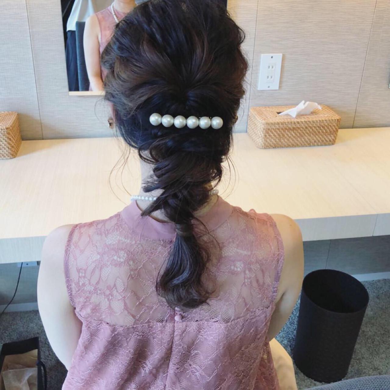 結婚式 ロング ナチュラル デート ヘアスタイルや髪型の写真・画像 | 原田あゆみ / coquille/コキーユ