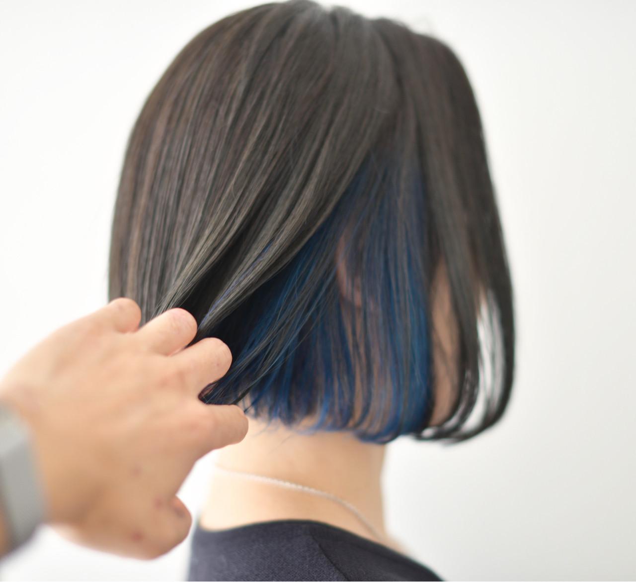 色気 モード インナーカラー ボブ ヘアスタイルや髪型の写真・画像 | yuuta inoue/vicca 'ekolu / vicca 'ekolu