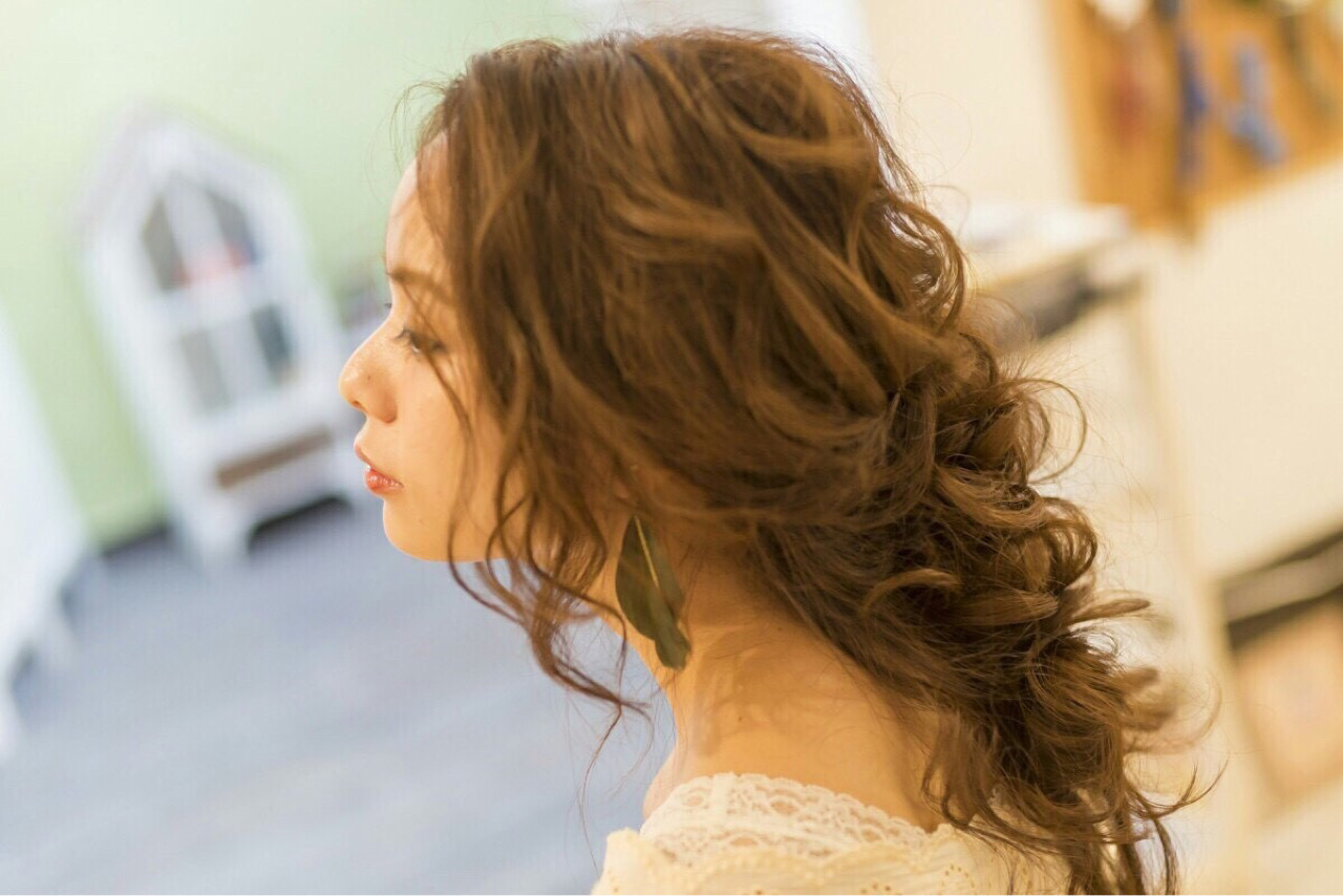 ヘアアレンジ 大人かわいい ロング ピュアヘアスタイルや髪型の写真・画像